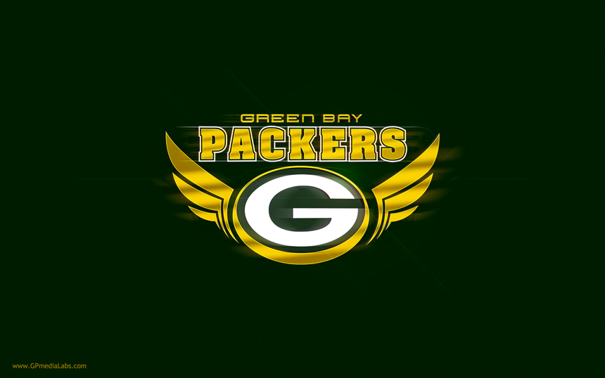 Green Bay Packers Wallpaper Logo with Wings