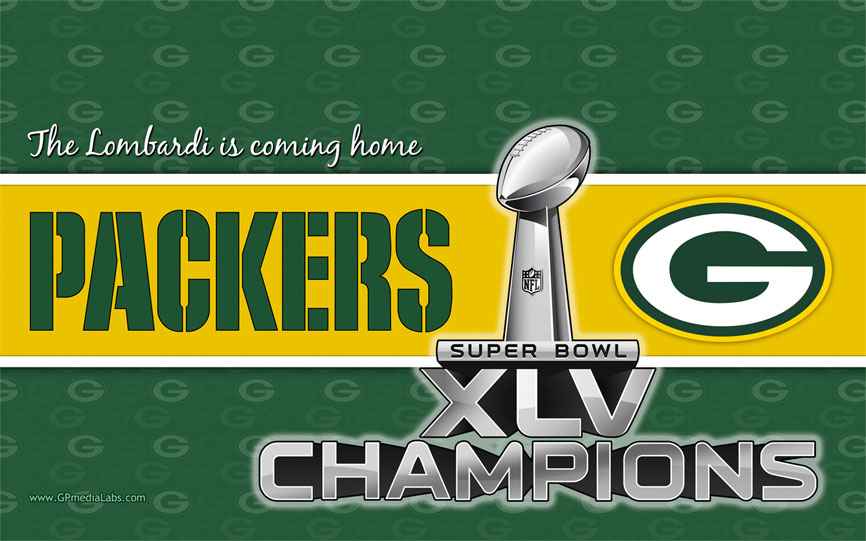 "Green Bay Packers Wallpaper - Super Bowl XLV Champions ""The Lombardi is"